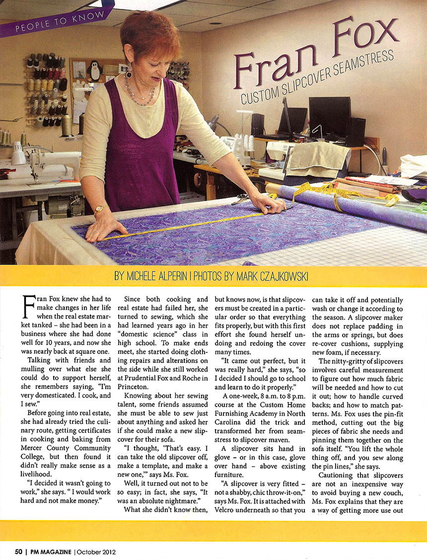 PM Fine Living Fran Fox article page 1