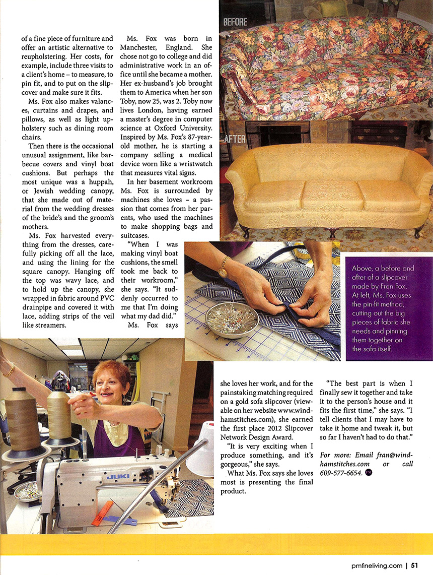 PM Fine Living article page 2