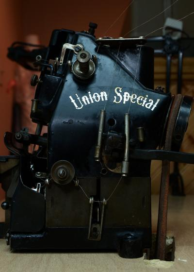 Fran Fox's vintage Union Special serger sewing machine